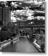 To The East Flows The Water Metal Print