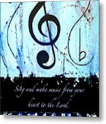 To The Lord - Blue Metal Print
