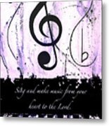 To The Lord - Purple Metal Print