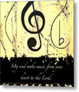 To The Lord - Yellow Metal Print