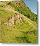 To The Top Of Arthur's Seat. Metal Print