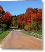 To Where Does The Road Lead Metal Print