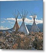 Tee Pees, Taos New Mexico Metal Print