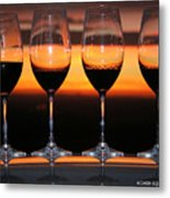 Toast At Sunset Photograph Metal Print