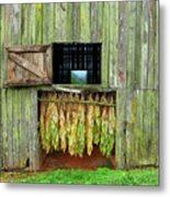 Tobacco Barn Metal Print by Ron Morecraft