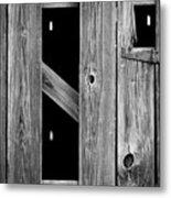 Tobacco Barn Wood Detail Metal Print