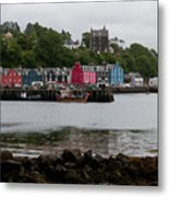 Tobermory Town Cityscape, Isle Of Mull Metal Print
