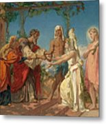 Tobias Brings His Bride Sarah To The House Of His Father Tobit Metal Print