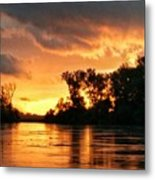 Today's Sunrise In Atchison.  Metal Print