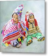Toddler Dolls Metal Print