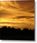 Toffee Sunset Metal Print