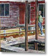 Together Again At The Old Fish Camp Metal Print