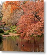 Together In Fall Metal Print