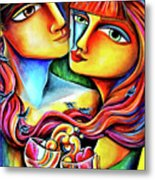 Together In Love Metal Print