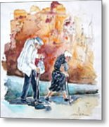 Together Old In Portugal 01 Metal Print