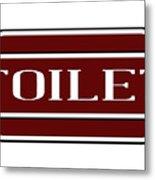 Toilet Station Name Sign Metal Print