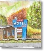 Toiyabe Motel In Walker, California Metal Print