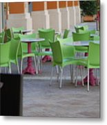 Token Chair Metal Print