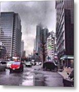 Tokyo Cloudy Metal Print