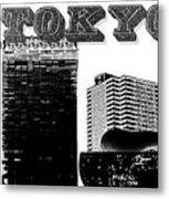 Tokyo Inked Metal Print