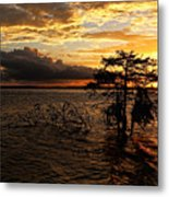 Toledo Bend Sunset Metal Print