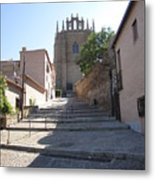 Toledo Steps To Cathedral Metal Print