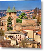 Toledo Town View Metal Print by Joan Carroll