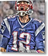 Tom Brady Art 5 Metal Print