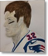 Tom Brady Determined Metal Print