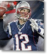 Tom Brady New England Patriots Metal Print
