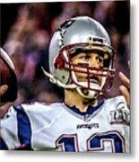 Tom Brady - Touchdown Metal Print