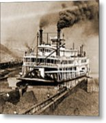 Tom Greene River Boat Metal Print