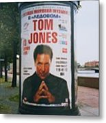 A Rare Collectible Poster Of Tom Jones In Russia Metal Print
