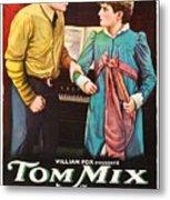 Tom Mix In The Feud 1919 Metal Print
