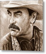 Tom Selleck The Western Collection Metal Print