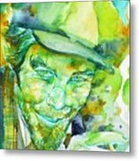 Tom Waits - Watercolor Portrait.5 Metal Print