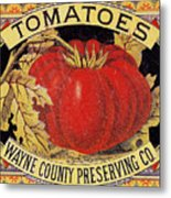 Tomato Can Label Metal Print