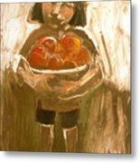 Tomato Girl Metal Print