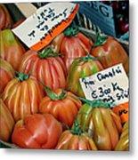 Tomatoes At Market Metal Print