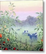 Tomatoes In The Mist Metal Print