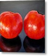 Tomatoes Original Oil Painting Metal Print