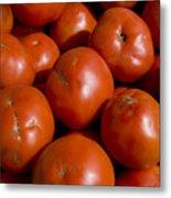 Tomatoes Sit In The Sun Awaiting Buyers Metal Print