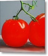Tomatoes With Stems Metal Print
