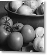Tomatos Onion And Garlic Metal Print
