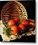 Tomatos. Out Of Basket. Metal Print