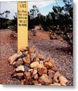 Tombstone Boot Hill Metal Print
