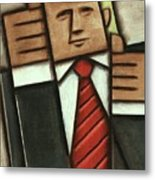 Tommervik Abstract Donald Trump Thumbs Up Painting Metal Print