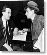 Tommy Dorsey And Hoagy Carmichael, 1939 Metal Print