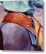 Toms Saddle Western Painting Cowboy Art Metal Print