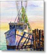 Tonyo Shrimp Boat Metal Print
